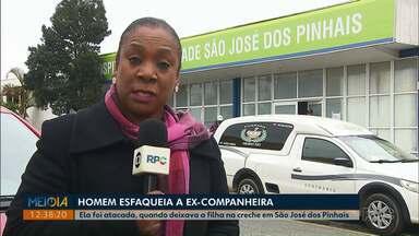 Adolescente é esfaqueada após deixar filho em creche de São José dos Pinhais - Diretora da escola disse que a jovem foi esfaqueada pelo ex-namorado e que ela voltou ao CMEI para pedir ajuda.