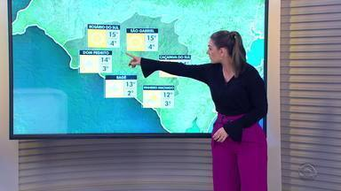 Quarta-feira (21) deve ser com sol, mas temperaturas seguem baixas no RS - Assista ao vídeo.