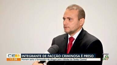 Preso homem que seria fornecedor de drogas no Sertão Central - Saiba mais em g1.com.br/ce