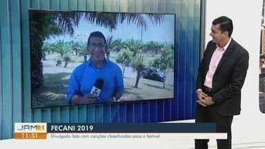 Fecani 2019 divulga lista de classificados - Festival de Música recebe 34 músicas.