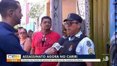Homem foi assassinado no próprio comércio em Juazeiro do Norte - Saiba mais em g1.com.br/ce