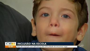 Pais de criança com deficiência têm dificuldade de encontrar vaga em escola - Saiba mais em g1.com.br/ce
