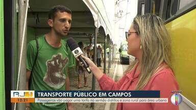 Campistas vão pagar apenas uma tarifa para ir a distritos e da zona rural para área urbana - Para isso, passageiros devem usar o cartão Anda Campos.