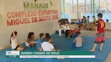 Fala Comunidade: Conheça projeto social do bairro Cidade de Deus - Atividades esportivas são promovidas para comunidade.