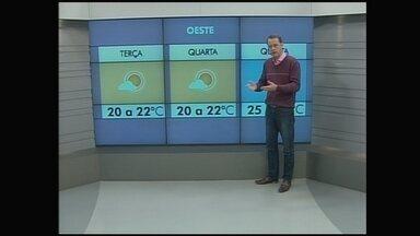 Confira a previsão do tempo para a região Oeste - Confira a previsão do tempo para a região Oeste