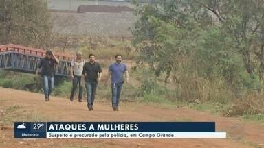 Suspeito de ataques a mulheres é procurado pela polícia - Duas mulheres foram agredidas no Jardim Carioca. Policiais do GOI fizeram buscas na região onde aconteceram os crimes.