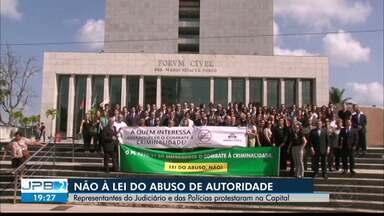 JPB2JP: Protesto contra a Lei do Abuso de Autoridade em João Pessoa - Feito por representantes do Judiciário e das Polícias.