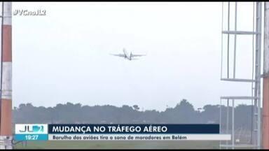 Serviço de manutenção provoca mudanças no Aeroporto de Belém - Os aviões passaram a cruzar áreas urbanas da cidade, o que tira o sono de muitos moradores.