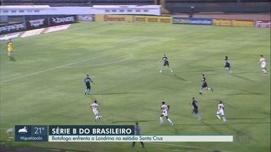 Botafogo-SP enfrenta o Londrina no estádio Santa Cruz - Time quer vitória para voltar ao G4 da Série B do Campeonato Brasileiro.
