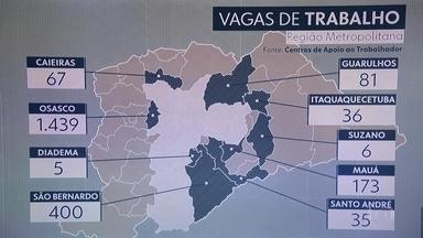 Grande São Paulo tem 2 mil vagas de trabalho - A maioria está em Mauá, São Bernardo do Campo e Osasco.