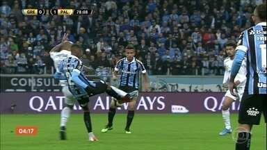 Palmeiras vence o Grêmio por 1 a 0 pela Libertadores - No confronto de brasileiros pela Copa Libertadores, o Palmeiras saiu na frente do Grêmio no jogo de ida das quartas de final.