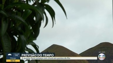 Confira a previsão do tempo para esta quarta-feira (21) - Quarta-feira (21) começa com chuva em pontos do Rio.
