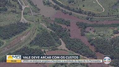 Vale vai arcar com projetos da UFMG de fiscalização da qualidade da água do rio Paraopeba - Justiça definiu que a mineradora transfira, inicialmente, R$ 22 milhões para a UFMG.