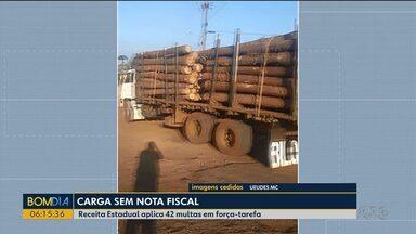 Receita Estadual faz operação para combater a sonegação de impostos em Guarapuava - 42 multas foram aplicadas.