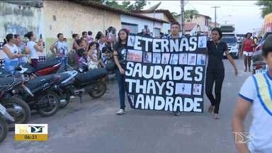 Tristeza e protesto marcam enterro de vítima de feminicídio em Bom Jardim - Corpo de Thays Andrade da Silva, 26 anos, que havia sido encaminhado pra exames no IML em São Luís só chegou a bom jardim no final da tarde de terça-feira (20).