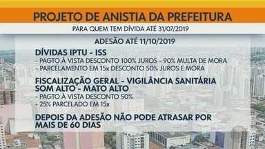 Câmara aprova projeto da Prefeitura que perdoa juros e multas de dívidas em Ribeirão Preto - Benefício vale para quem tem débitos feitos até 31 de julho de 2019.