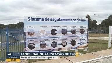 Estação de tratamento de esgoto é inaugurada em Lages - Estação de tratamento de esgoto é inaugurada em Lages