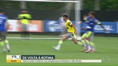 Vasco volta a treinar para enfrentar São Paulo - Times jogam no domingo, em São Januário