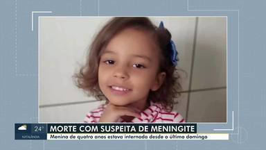 Corpo da menina que morreu com suspeita de meningite é velado em Montes Claros - Menina estava internada desde domingo.