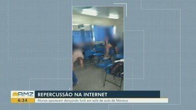 Alunos são flagrados em 'baile funk' dentro de de escola estadual, em Manaus - Estudantes devem receber punições.