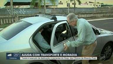 Taxista é exemplo de dedicação a pacientes do Hospital das Clínicas de Ribeirão Preto - No ano de aniversário de 40 anos da EPTV, conheça histórias inspiradoras de pessoas que moram nas cidades que integram a área de cobertura da emissora.