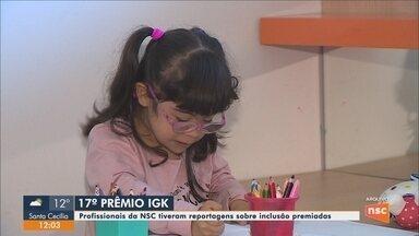Profissionais da NSC TV são premiados em Florianópolis - Profissionais da NSC TV são premiados em Florianópolis