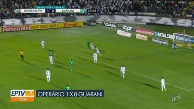 Guarani perde mais uma e se afunda na lanterna da série B - Bugre voltou derrotado pelo Operário de Ponta Grossa (PR) e segue na lanterna da série B.