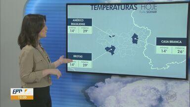 Veja como fica o tempo nesta quarta-feira na região - Em Américo Brasiliense e Brotas são esperadas temperaturas mais altas.