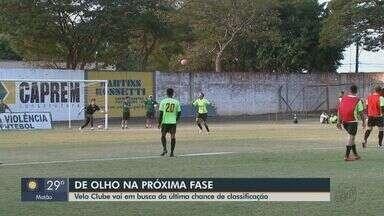 Velo Clube busca última chance de classificação para próxima fase da Copa Paulista - A partida decisiva contra o Inter de Limeira ocorre no sábado (24).