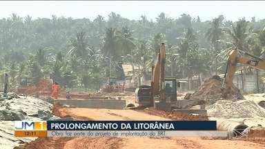 Obra de prolongamento da Avenida Litorânea deve ser concluída até dezembro - Novo trecho da avenida faz parte de um projeto para melhorar a mobilidade urbana na Região Metropolitana de São Luís.