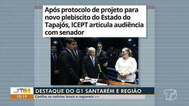 Articulações para novo plebiscito do estado do Tapajós é destaque no G1 Santarém e região - Confira esta e outras notícias acessando o portal.