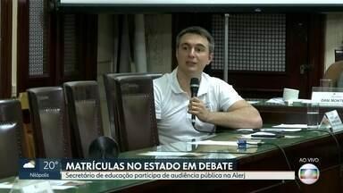 Secretário de Educação participa de audiência pública na Alerj sobre sistema de matrículas - Pedro Fernandes prometeu que até o ano que vem as salas de aula estarão climatizadas.