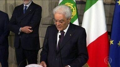 Presidente italiano começa a ouvir líderes partidários para tentar formar novo governo - Primeiro-ministro Giuseppe Conte renunciou ontem.