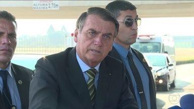 Declaração de Bolsonaro sobre queimadas provoca protestos - Sem prova para sustentar a tese, presidente levantou a suspeita de que ONGs seriam responsáveis por incêndios criminosos. Queimadas aumentam no Norte do país.