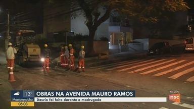 Obras na Avenida Mauro Ramos, em Florianópolis, provocam alterações no trânsito - undefined