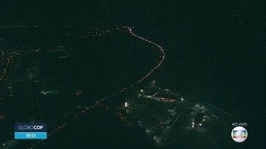 Obra em Jaboatão provoca engarrafamento na volta para casa - Imagens do Globocop mostram a fila de carros, que pode chegar a dez quilômetros