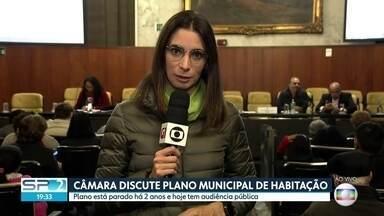 Vereadores de São Paulo discutem Plano Municipal de Habitação - A Câmara de Vereadores de São Paulo retoma nesta quinta-feira (22) as discussões sobre o Plano Municipal de Habitação, que está parado há dois anos.