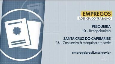 Agências do Trabalho ofertam vagas em diferentes cidades - Para Santa Cruz do Capibaribe, são 16 vagas para costureiro à máquina em série.