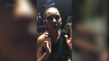 Jeovanni Alcântara e Luna LaBelle falam sobre gravação no 'Caldeirão do Huck' - Casal aparece muito emocionado nos bastidores do programa
