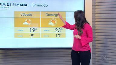 Fim de semana é de tempo firme em todo Rio Grande do Sul - Temperaturas sobem um pouco, mas continuam com firo no amanhecer.