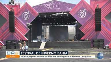 Festival de Inverno Bahia agita Vitória da Conquista a partir desta sexta-feira - Evento atrai turistas e movimenta economia da cidade, que fica no sudoeste do estado.