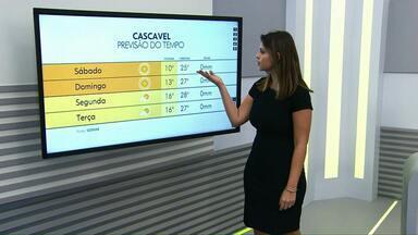 Sábado será de sol e temperaturas altas em Cascavel e região - Máxima deve ser de 5ºC.