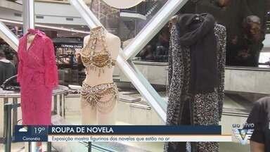 Exposição em Santos, SP, mostra figurinos das novelas atuais - Exposição traz as roupas usadas pelos personagens das três novelas que estão no ar na TV Tribuna.