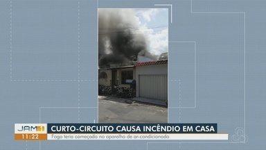 Em Manaus. incêndio destrói casa - Curto-circuito seria a causa.