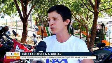 Após repercussão da expulsão de um cão da URCA, professor se desculpa - Saiba mais em g1.com.br/ce