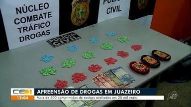 Polícia apreende mais de 500 comprimidos de ecstasy em Juazeiro do Norte - Saiba mais em g1.com.br/ce