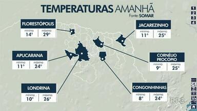 Confira como fica o tempo no fim de semana na região de Londrina - Não tem previsão de chuva, mas os dias devem amanhecer mais frios.
