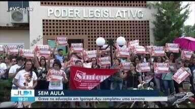 Greve de servidores da educação completa uma semana em Igarapé-Açu, no PA - Os grevistas foram até a Câmara Municipal da cidade pedir apoio a vereadores.