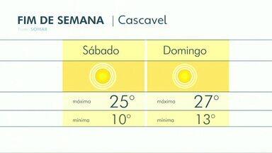 Fim de semana será ensolarado na região Oeste - As temperaturas não devem passar dos 27 graus.