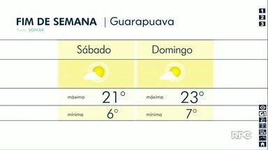Fim de semana terá sol entre nuvens em Guarapuava - Temperaturas variam entre 6 e 25 graus nas cidades da região.